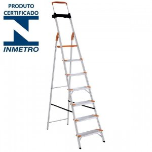 Escada Alumínio Doméstica Residencial 07 Degraus Premium (Tramontina)