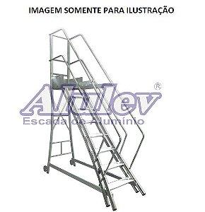 Escada Alumínio Trepadeira 1,61 m (Alulev)
