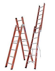 Escada Fibra Dobrável 06 Degraus (Cogumelo)