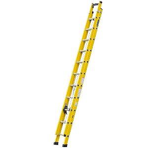 Escada Fibra Extensível Amarela 3,60 x 6,00 m Cogumelo
