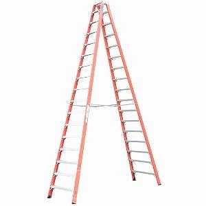 Escada Fibra Pintor 16 Degraus 4,95 m (Cogumelo)