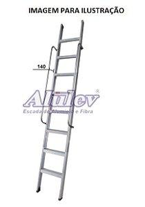 Escada Alumínio Encosto Comercial 06 Degraus - 2,10 m (Alulev)