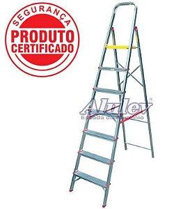 Escada Alumínio Doméstica Residencial 07 Degraus (Alulev)