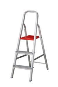 Escada Alumínio Doméstica Residencial 03 Degraus (Alumibraz)
