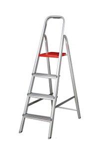 Escada Alumínio Doméstica Residencial 04 Degraus (Alumibraz)