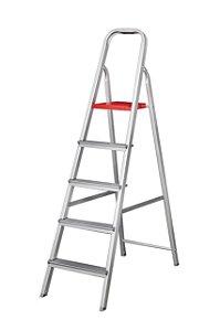 Escada Alumínio Doméstica Residencial 05 Degraus (Alumibraz)