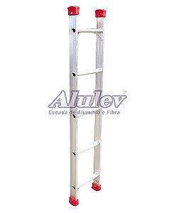 Escada Alumínio Encosto Baby 06 Degraus - 1,80 m (Alulev)