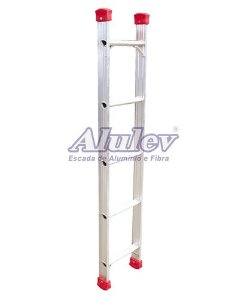 Escada Alumínio Encosto Baby 08 Degraus - 2,40 m (Alulev)