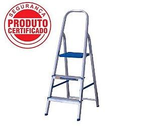 Escada Alumínio Doméstica Residencial 03 Degraus (Alumasa)