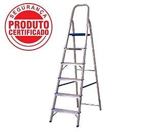 Escada Alumínio Doméstica Residencial 06 Degraus (Alumasa)