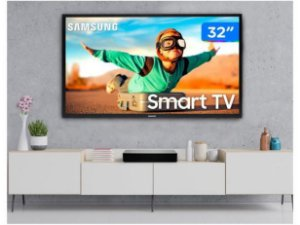 "Smart TV HD LED 32"" Samsung 32T4300A - Wi-Fi HDR 2 HDMI 1 USB - LEIA A DESCRIÇÃO!!!"