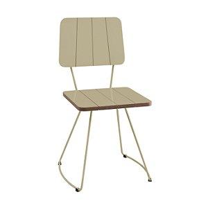 Cadeira Costela B. Meia Lua Aço Fendy Lam A.Brilho Fendy