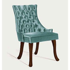 Cadeira Luis Xv B. Mad Castanho T1090 Linhao Verde