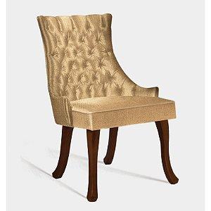 Cadeira Luis Xv B. Mad Castanho T1092 Linhao Mostarda