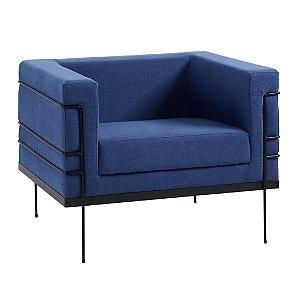 Poltrona Le Corbusier Azul Marinho