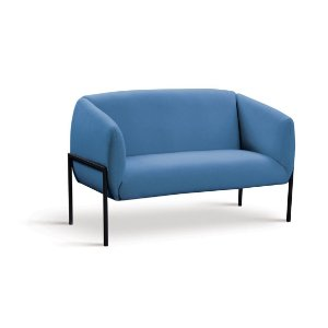 Sofá 2 Lugares Adeline Azul Jeans
