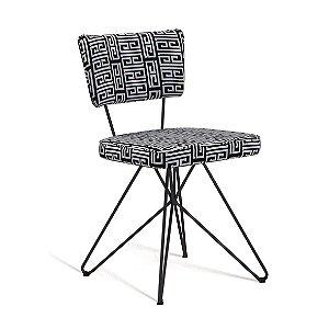 Cadeira Butterfly Retro Preto/Branco