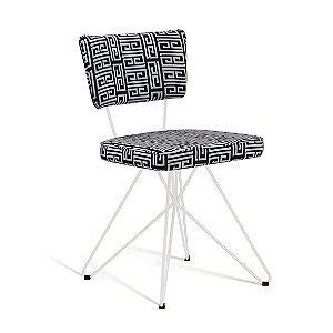 Cadeira Butterfly Retro Preto/Branco Daf