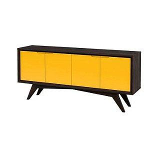Buffet Querubim 04 portas cor Envelhecido com amarelo