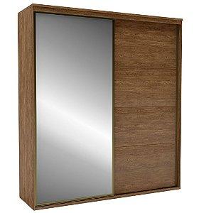 Roupeiro Eleganza 2 Portas 1 c/ Espelho 2070 mm Álamo