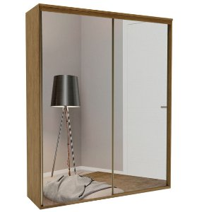 Roupeiro Luminum 2 Portas c/ Espelho 1785 mm  Álamo