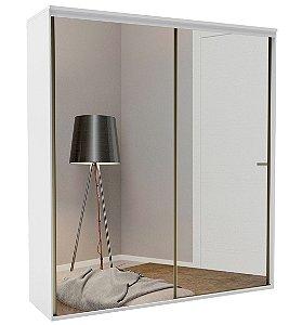 Roupeiro Luminum 2 Portas c/ Espelho 2070 mm  Branco