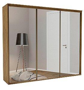Roupeiro Luminum 3 Portas c/ Espelho 2670 mm  Álamo
