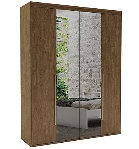 Roupeiro Originale 4 Portas 2 c/ Espelho 1785 mm  Ébano