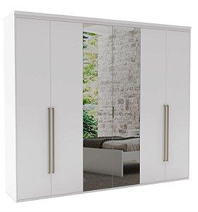 Roupeiro Originale 6 Portas 2 c/ Espelho 2270 mm Branco