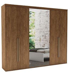 Roupeiro Originale 6 Portas 2 c/ Espelho 2670 mm Álamo