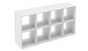 Estante Módulo 4x2 Branco - 745x1475x386