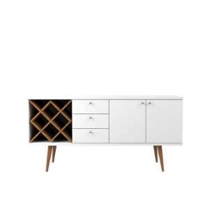 BUFFET LIV 1.6 BRANCO GLOSS/NATURAL