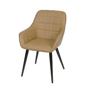 Cadeira Dana Com Braço Caramelo