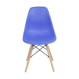 Cadeira DKR Base Madeira Azul Escuro
