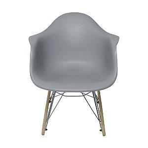 Cadeira DKR Com Braço Base Balanço Cinza