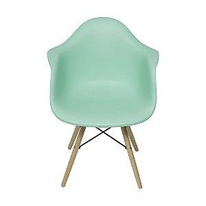 Cadeira DKR Com Braço Base Madeira Tiffany
