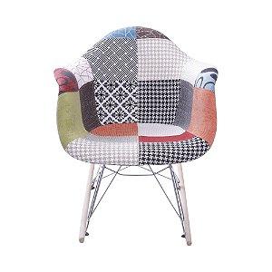 Cadeira DKR Patchwork Base Balanço Mix