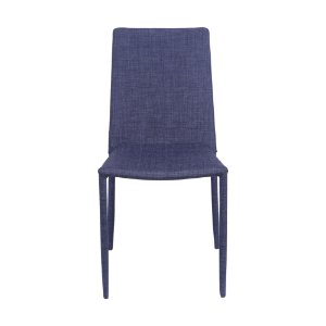 Cadeira Glam Em Linho Jeans Azul