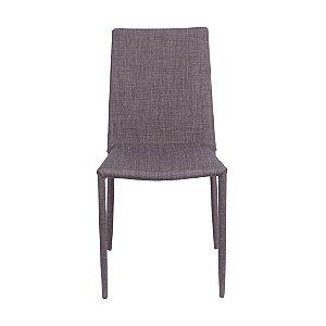 Cadeira Glam Em Linho Marrom