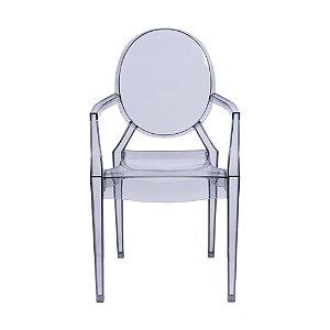 Cadeira Invisible Com Braço Incolor