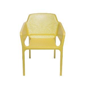 Cadeira Vega Com Braço Amarela