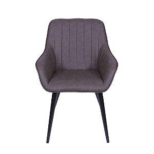 Cadeira Volga Com Braço Café