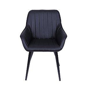 Cadeira Volga Com Braço Preta