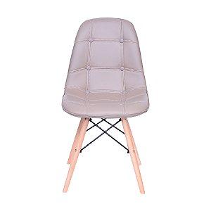 Cadeira DKR Botone Base Madeira Fendi
