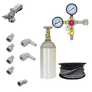 Kit Completo para Chopeira Elétrica- 2 Vias - 1 Chope (CO2 2,3kg)