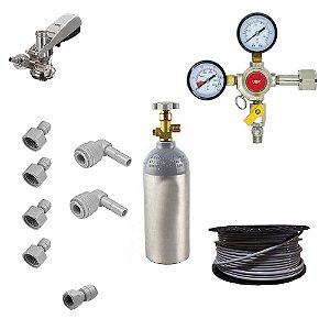 Kit Completo para Chopeira Elétrica - 2 vias - 1 Chope (CO2 1.13kg)