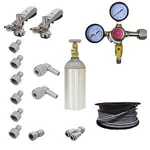 Kit Completo para Chopeira Elétrica - 2 Vias - 2 Chopes (CO2 1.13 kg)