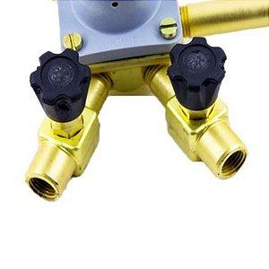 Regulador de Pressão para CO2 (Pré-Calibrado - 2 saídas)