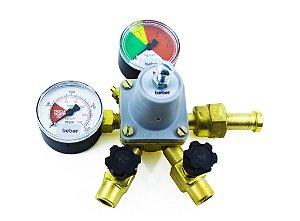 Regulador de Pressão CO2 com Manômetro (2 saídas) - UMF