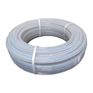 Mangueira Atóxica 3/8 Natural (Tubo Rígido) - Listra Azul